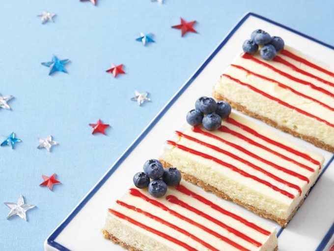Patriotic Cheesecake Bars