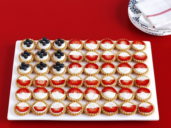 Patriotic Fruit Tart Flag