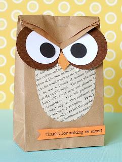 Thanks for Making Me Wiser Owl Bag