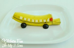 Back to School Banana Bus