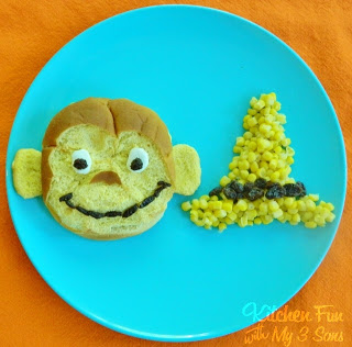Curious George Burger with a side of The Yellow Corn Hat!