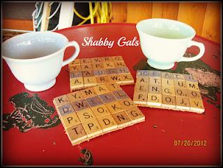 Scrabble Coasters