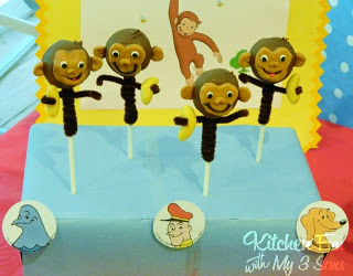 Curious George with his Banana Cake Pops