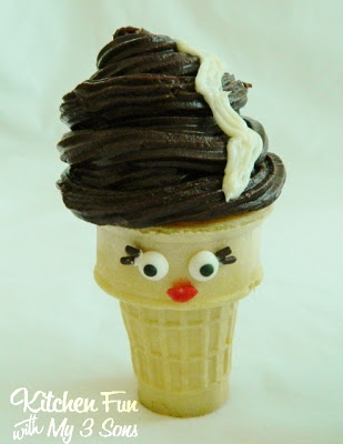 Bride of Frankentein Cupcake Cone