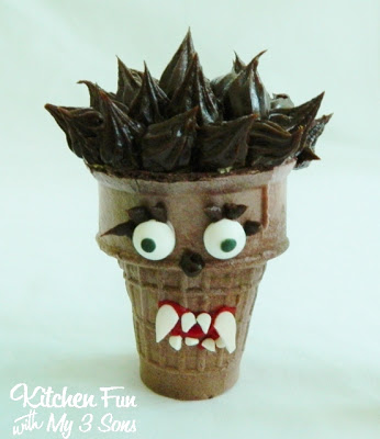 The Wolf Man Cupcake Cone
