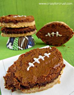 Nutella Brownie Footballs