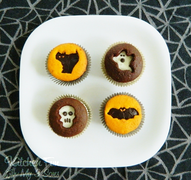 Halloween Cookie Cutter Cupcakes...so easy!