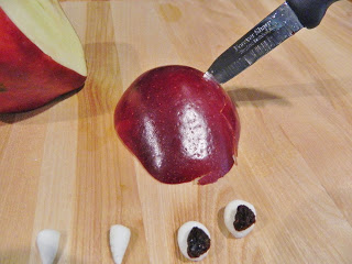 Cutting Part of The Apple