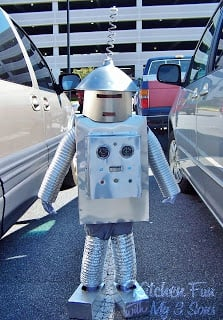 Robot costume in 2008