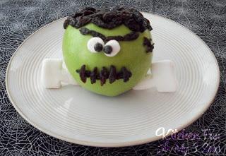 Frankenstein Apple Snack