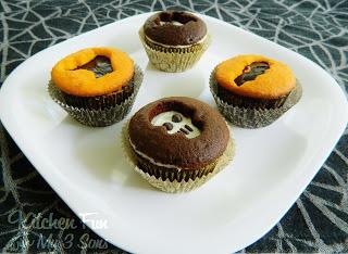Halloween Cookie Cutter Cupcakes