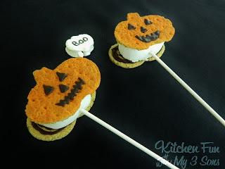 Pumpkin S'mores on a Stick