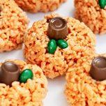 Rice Krispie Pumpkin Surprise Treats