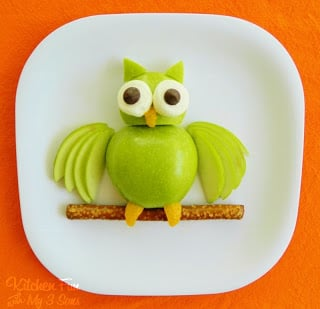 Apple Owl Fruit Snack for Kids