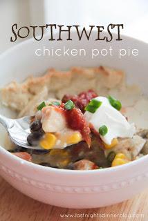 Southwest Chicken Pot Pie