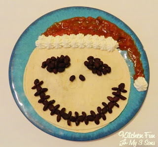 Santa Claus Jack Quesadilla from Nightmare Before Christmas!
