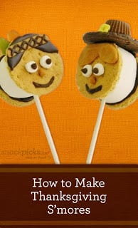 Thanksgiving S'mores Pops
