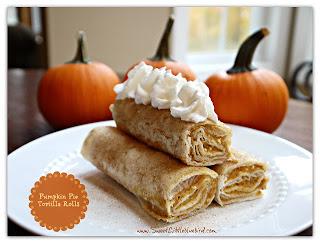 Pumpkin Tortilla Rolls