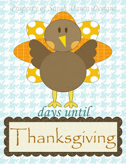 Thanksgiving Countdown Free Printable