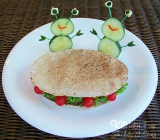 Flying Saucer Falafel Sandwich