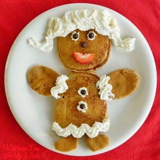 Gingerbread Girl Pancakes