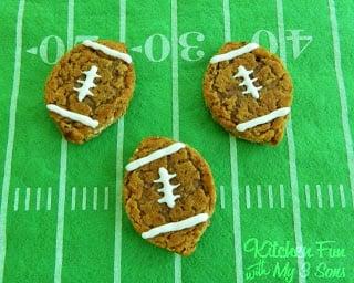 Football Oatmeal Cream Pies
