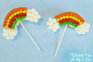 Rainbow S'mores Pops