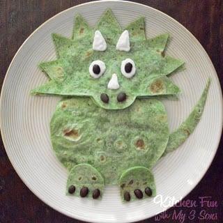 Dinosaur Quesadilla Mexican Dinner