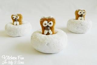 Powdered Groundhog Donuts