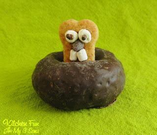 Chocolate Groundhog Donuts