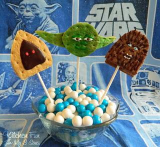 Jawa, Yoda, & Chewbacca S'mores Pops