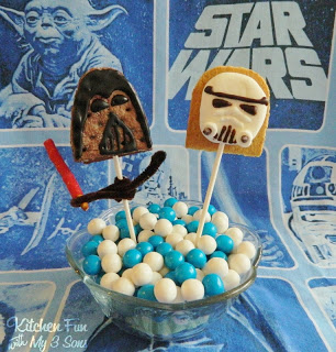 Darth Vader & Storm Trooper S'mores Pops