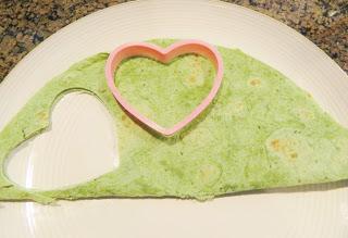 Heart Cookie Cutter Cutting The Tortilla