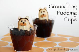 Groundhog Pudding Cups