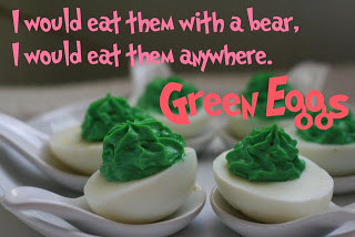 Dr. Seuss Green Deviled Eggs