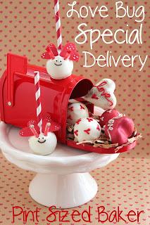 Valentine Love Bug Cake Pops