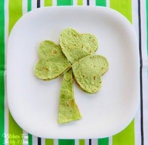 St. Patrick's Day Shamrock Quesadilla