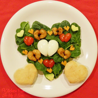 Valentine Shrimp Salad with Heart Biscuits