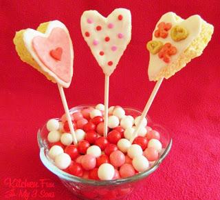 Valentine Rice Krispies Treat Pops
