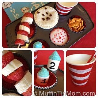 Dr. Seuss Muffin Tin Lunch
