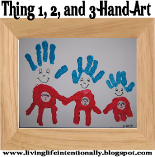 Thing 1 Thing 2 Hand Print Art