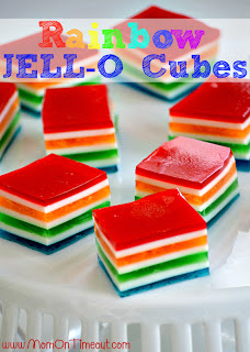 Rainbow Jello Cubes