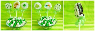 Simple St. Patrick's Day Oreo Pops