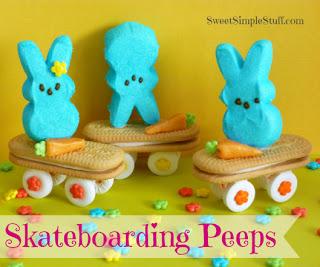 Skateboarding Bunny Peeps