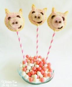 Piggy Pie Pops