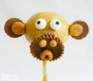 Reese's Banana Bread Monkey Cake Pops!