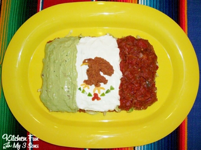 Cinco de Mayo Mexican Flag 7 Layer Dip