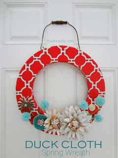 Duct Cloth Spring Wreath