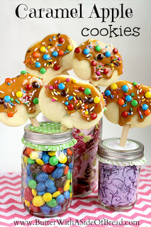 Caramel Apple Cookie Pops