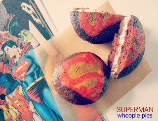 Superman Whoopie Pies
